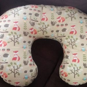 Boppy pillow with forest cover